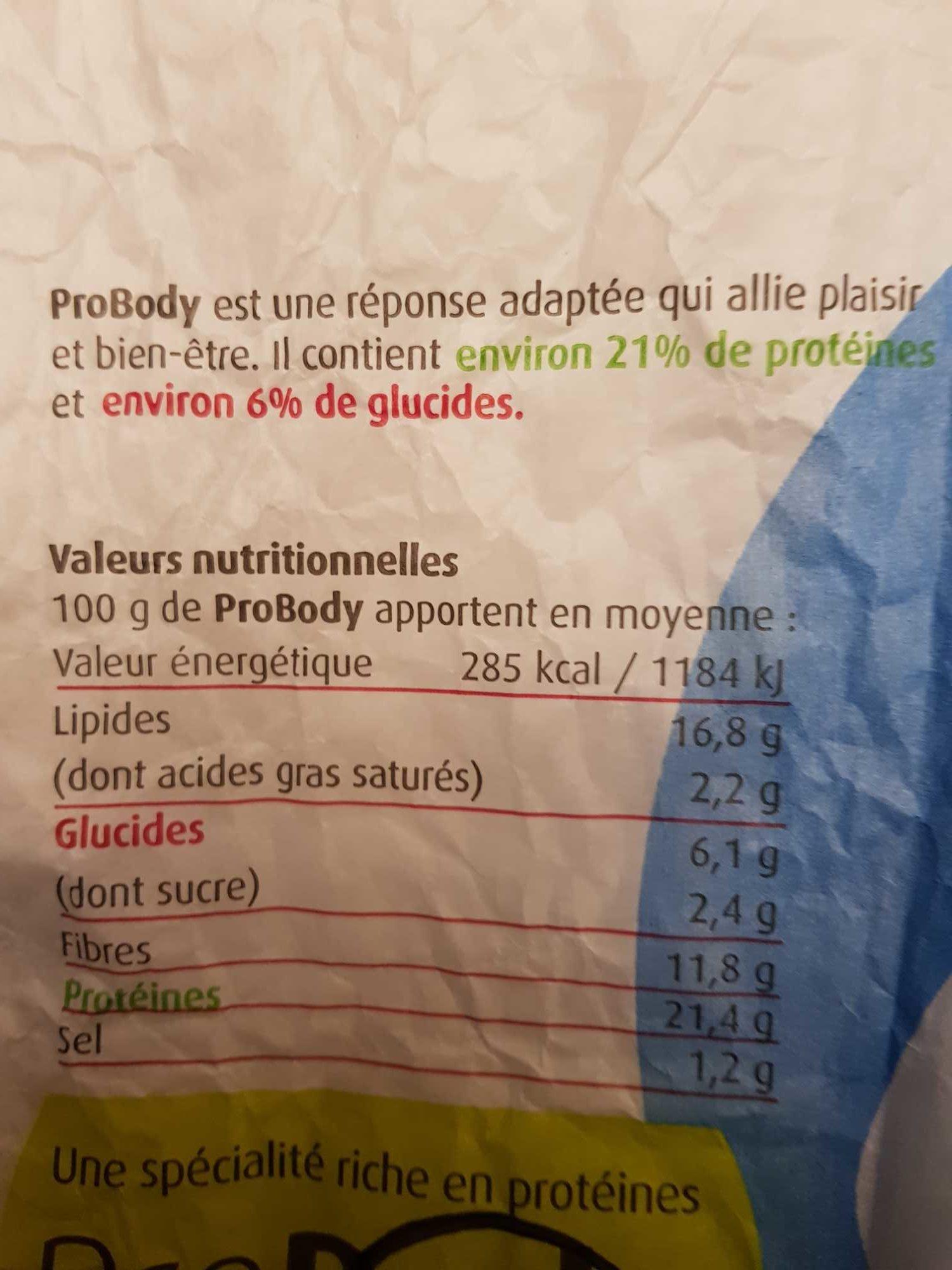 Probody - Voedingswaarden - fr