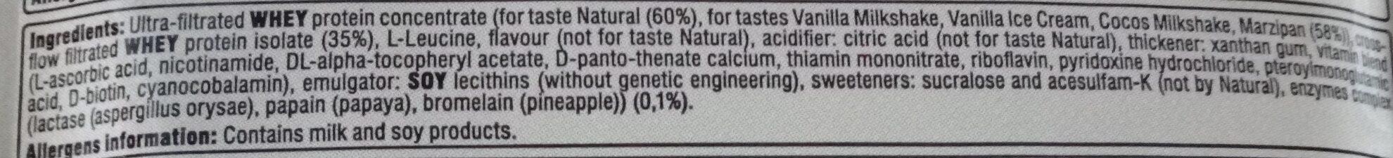 Whey saveur vanille crème glacée - Ingredients - fr