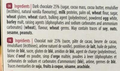Biscuits nappage chocolat - Ingredients - fr