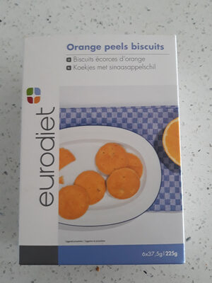 Orange peels biscuits - Product - fr