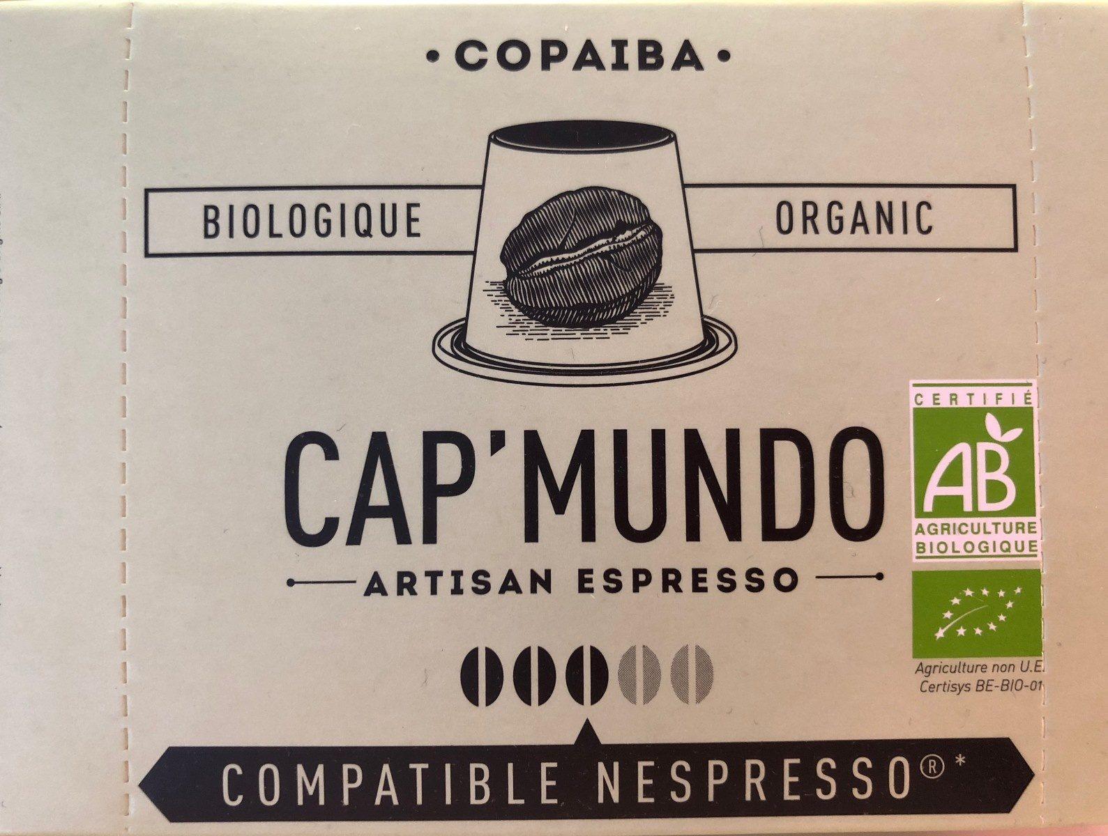 Capsules De Café Copaiba Bio X10 - Ingrédients - fr