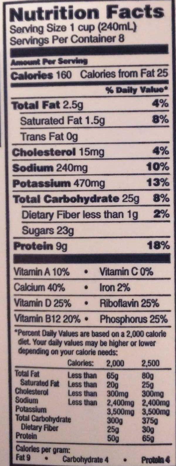 1% Chocolate Lowfat Milk - Lucerne - HALF GALLON (1.89 L)
