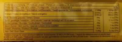 Balisto - Informations nutritionnelles