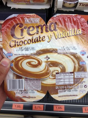 Crema de chocolate y vainilla - Product - es