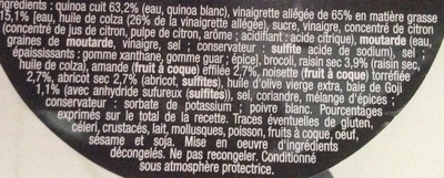 Pause Snack Douceur des Andes - Ingredients