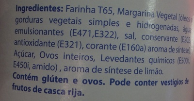 Areias - Ingredientes - pt