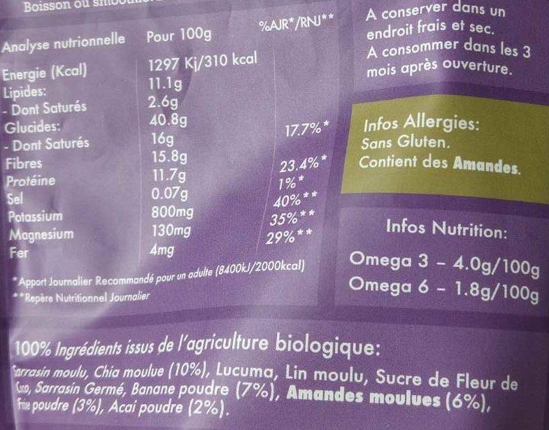 L'Éveil du Boudha Acai, Banane & Fraise - Ingrédients - fr