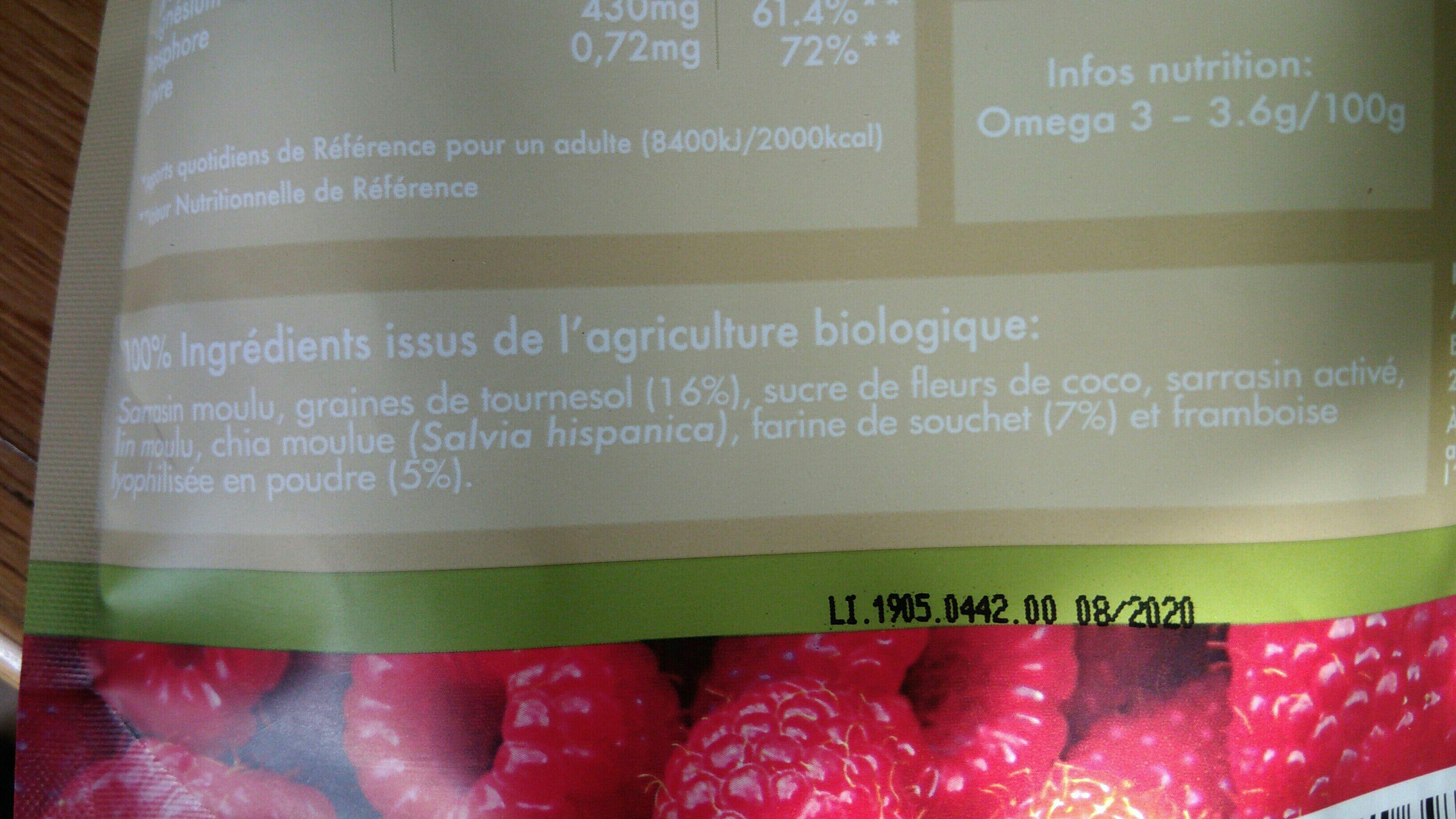 Eveil du Bouddha Framboise - Ingredienti - fr
