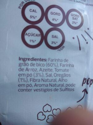 snack grão de bico crocante - Ingredientes - pt