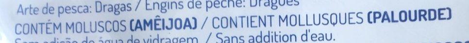 Palourdes Blanches Ébouillantées - Ingredients - fr
