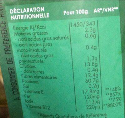 Chlorella en poudre - Valori nutrizionali - fr