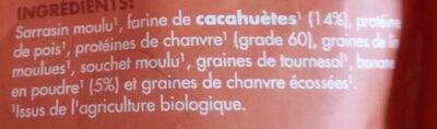 Éveil du Bouddha cacahuètes & bananes - Ingrediënten - fr