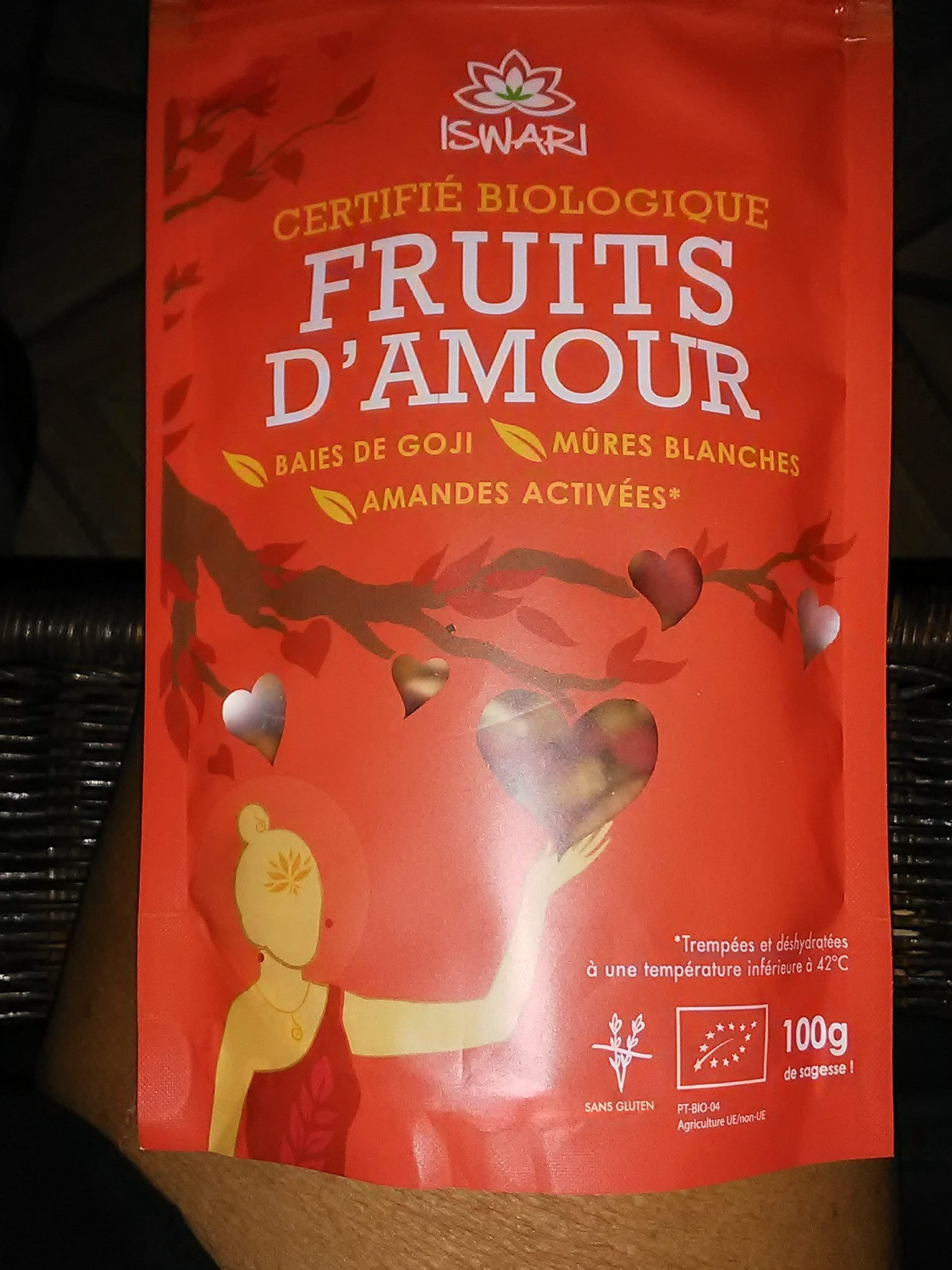 Fruits D'Amour - Goji, Mulberries, Amandes Bio - 100 G - Iswari - Product