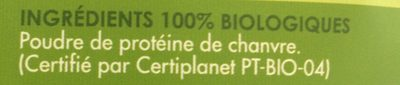 PROTEINE DE CHANVRE POUDRE SANS GLUTEN - Ingrediënten - fr