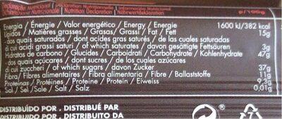 Buddha Energy - Informació nutricional - fr