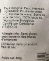 Macaccino - Ingrediënten