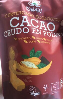 Cacao crudo en polvo