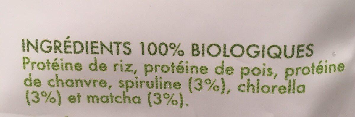 Proteines super green - Ingredients - fr
