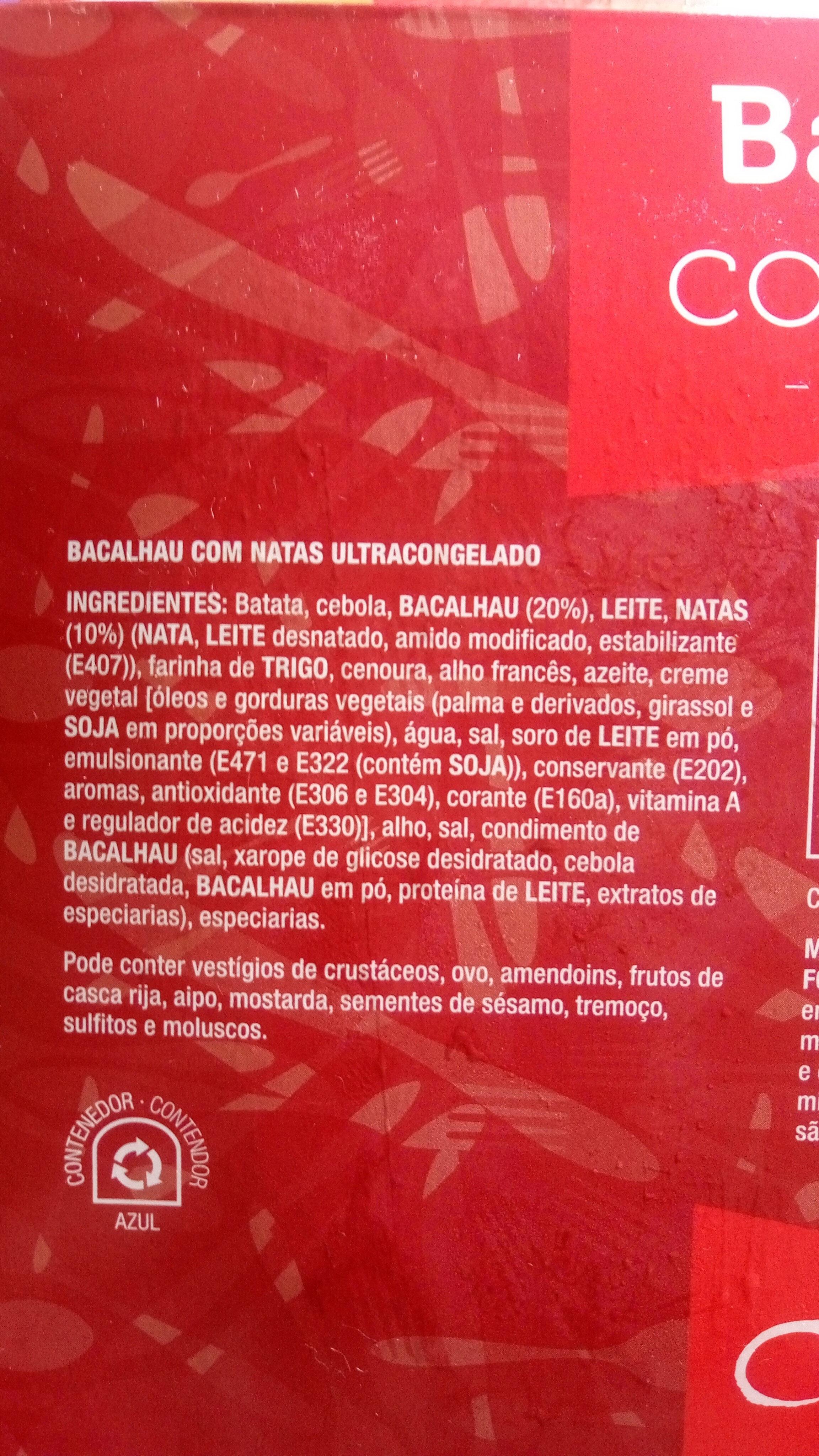 Bacalhau com Natas - ultracongelado - Ingrediënten