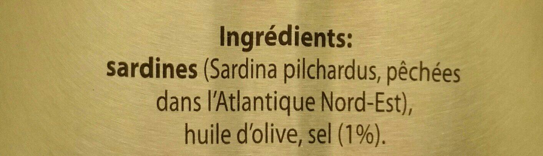 Sardines Avec Arêtes Marie-Elis. 125 GR, 5 Boîtes - Ingrédients - fr