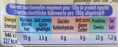 Sardines Avec Arêtes Marie-Elis. 125 GR, 5 Boîtes - Informations nutritionnelles - de