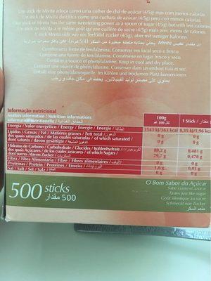 édulcorant En Poudre - Informations nutritionnelles