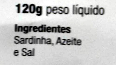 Sardines - Ingredients