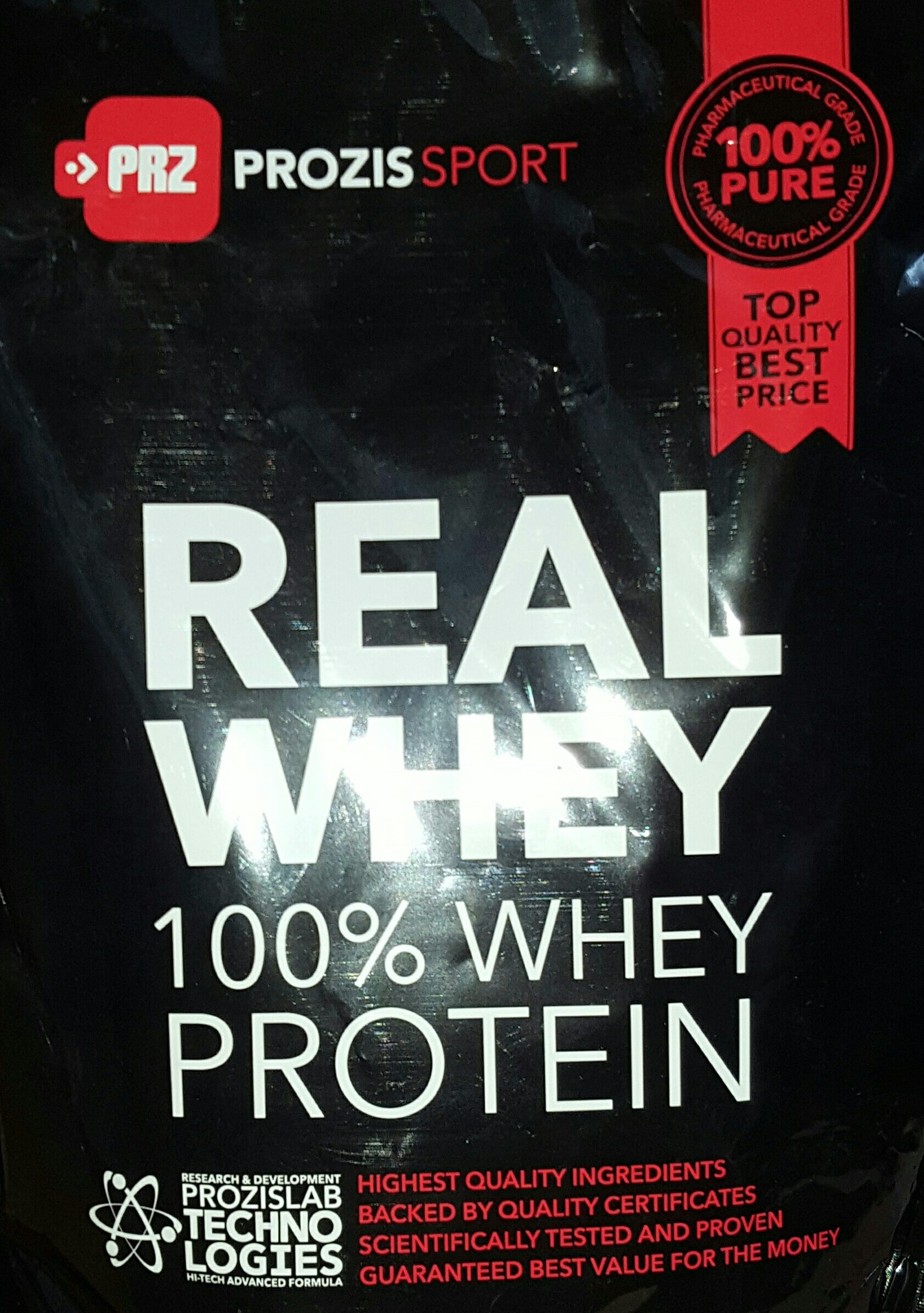100% Real Whey Protein Stevia Dark Chocolate - Product - fr