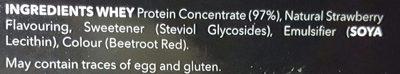 100% Real Whey Protein Stevia Fraise - Ingrediënten