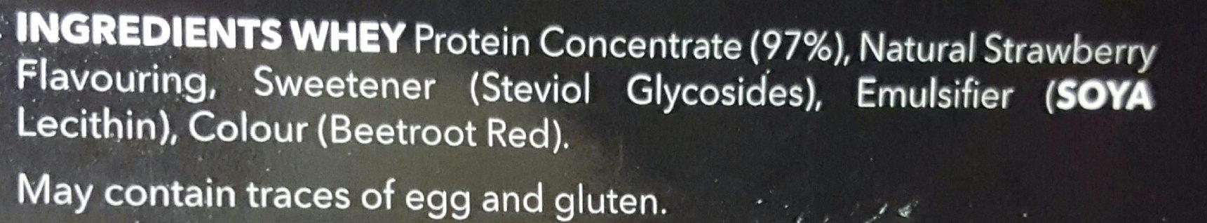 100% Real Whey Protein Stevia Fraise - Ingrediënten - fr
