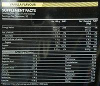 100% Real Whey Protein Stevia Vanilla - Voedingswaarden - en