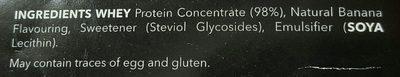 100% Real Whey Protein Stevia Banana - Ingrediënten - en