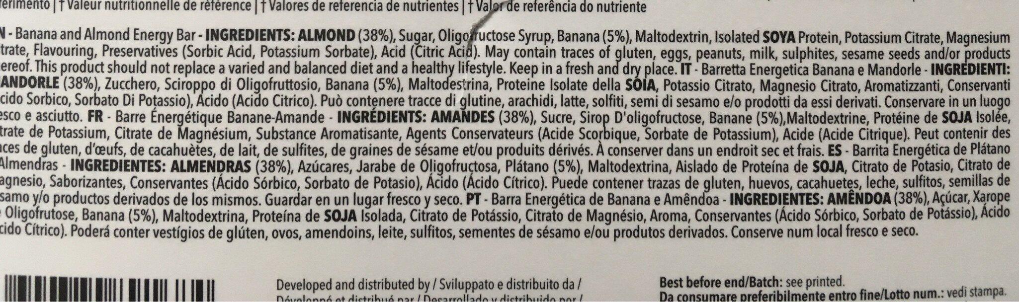 Prozis Energy Bar - Ingredients