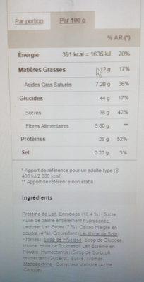 Snack coco prozis - Voedigswaarden