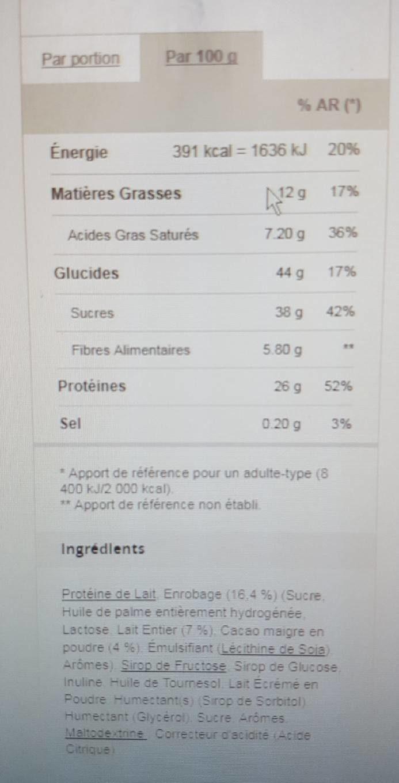 Snack coco prozis - Voedingswaarden - fr