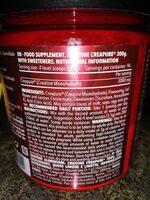 Creatina Creapure - Informations nutritionnelles - es