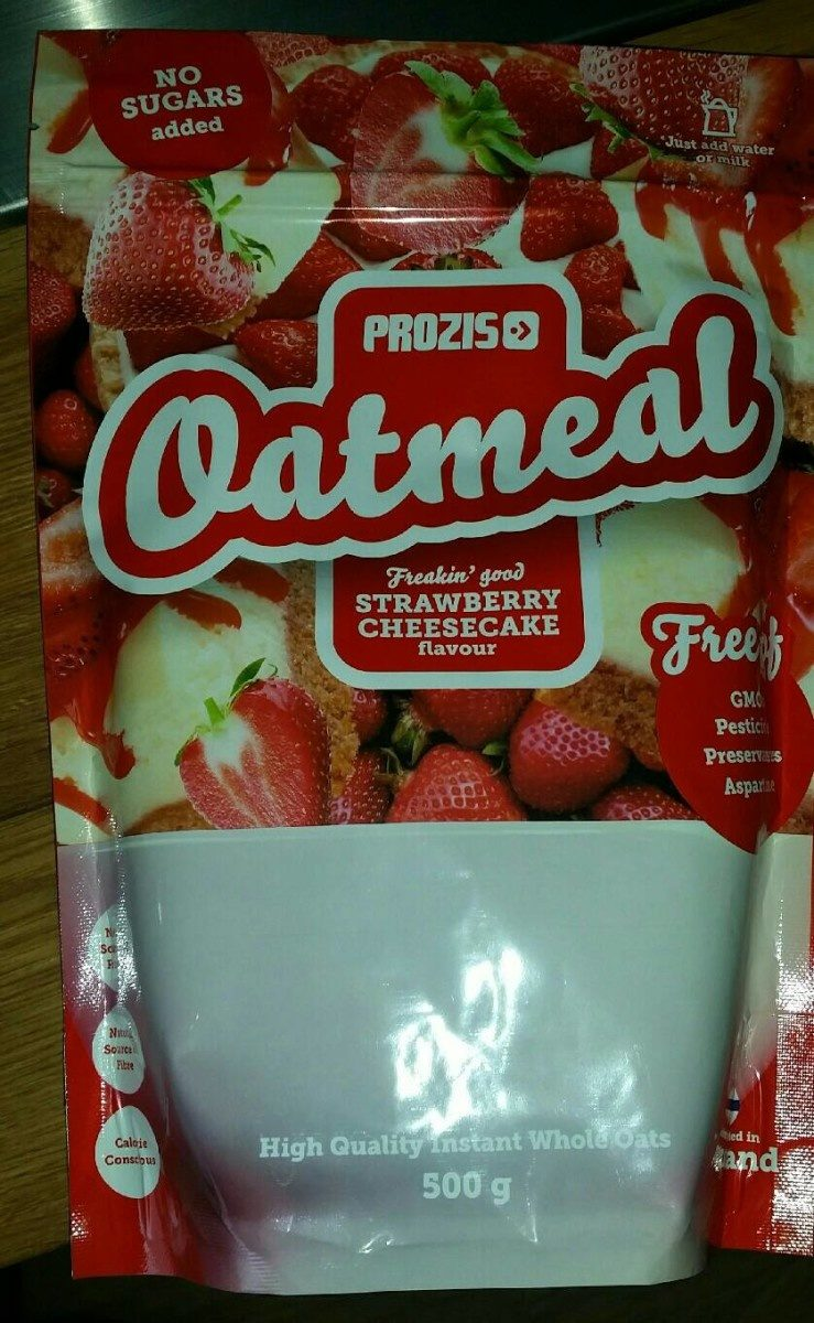 Oatmeal strawberry cheesecake - Producto - fr