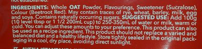 Oatmeal strawberry cheesecake - Ingredientes - fr