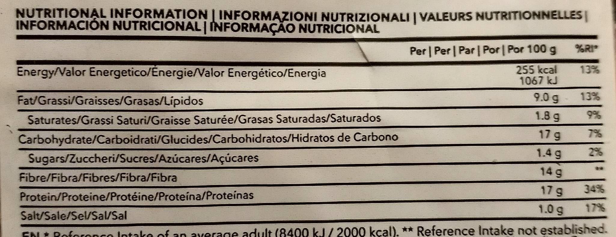 Lean Bread - Informació nutricional