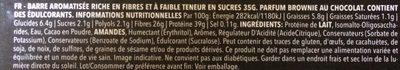 Zero snack brownie flavour - Ingredients - fr