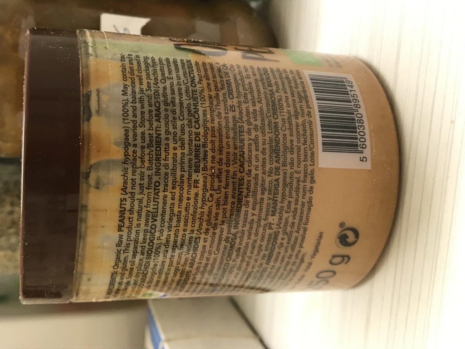 Organic peanut butter - Ingredientes - fr