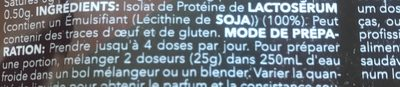 Real whey isolate - Ingredients