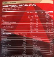 Real Whey Vanille - Informació nutricional - fr