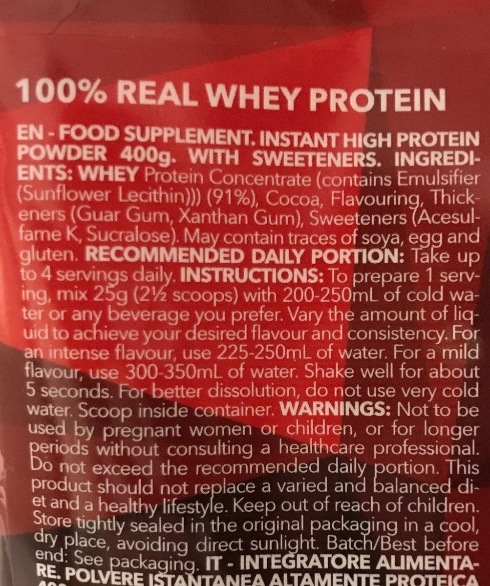 Real Whey - Ingredientes - fr