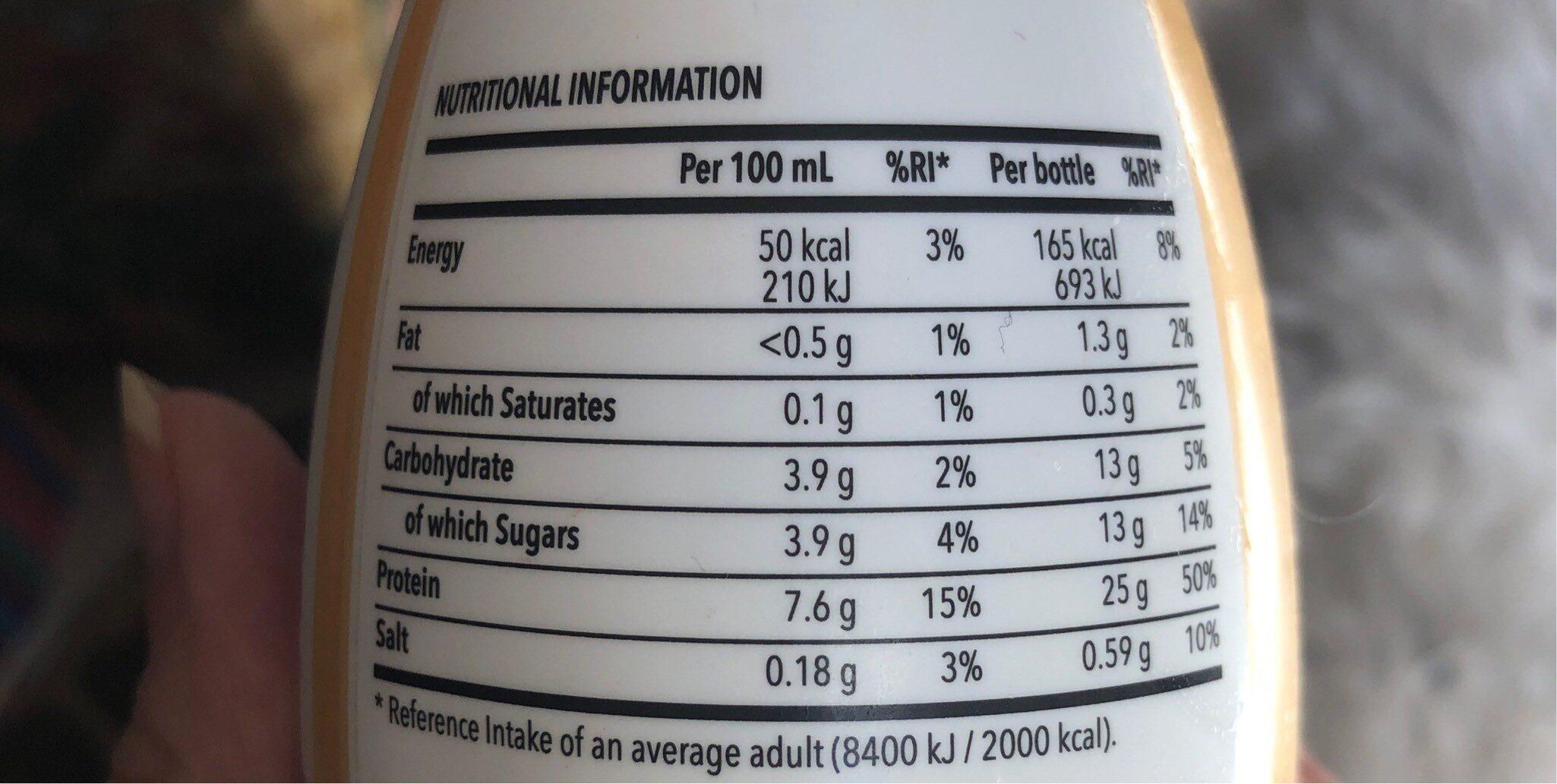 Prozis protein - Información nutricional - fr