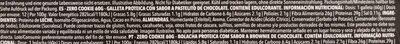 Zero Cookie sabor chocolate brownie - Información nutricional