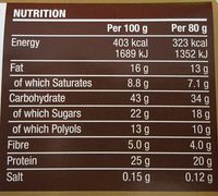 Protein Deluxe Bar Chocolate Hazelnut Flavour - Informations nutritionnelles - fr