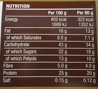 Protein Deluxe Bar Chocolate Hazelnut Flavour - Voedingswaarden - fr