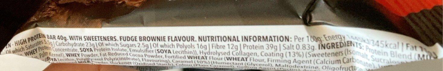Zero BAR - Informazioni nutrizionali - fr