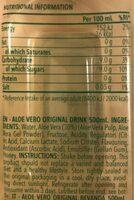 Aloe Vero - Información nutricional - fr